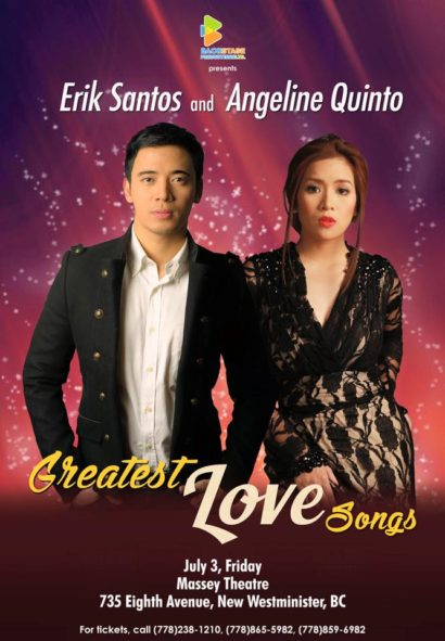 "Erik Santos and Angeline Quinto ""Greatest Love Songs"" Canada Tour"